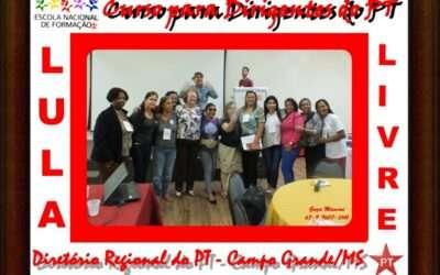 Curso para dirigentes do PT em Mato Grosso do Sul